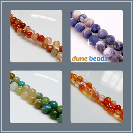tropical orange - red-brown aventurine, sodalite, carnelian, moss green to deep green striped agate