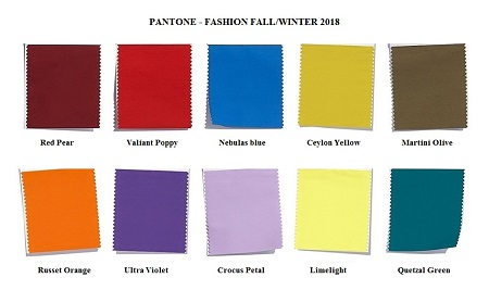 fashion colors fall/winter 2018