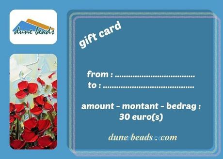 Picture of Gift Card dune beads - 30 Euros