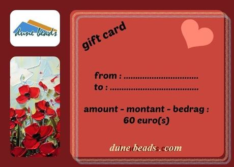 Picture of Gift Card dune beads - 60 Euros