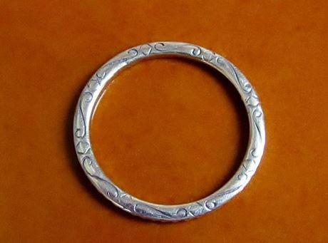Image de 32x32 mm, anneau de jonction surdimensionné, JBB findings, étain argenté