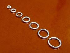 Picture of 4 to 10 mm, jump rings, mixed set, 18 gau, sterling silver, set
