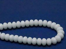 Picture of 4x7 mm, Czech faceted rondelle beads, chalk white, opaque