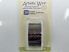 Picture of Artistic Wire, copper craft wire, 0.32 mm, gunmetal enamel
