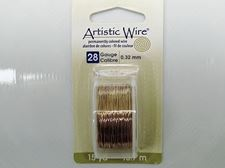 Picture of Artistic Wire, copper craft wire, 0.32 mm, non tarnish brass