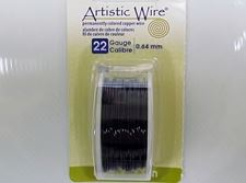 Picture of Artistic Wire, copper craft wire, 0.64 mm, black enamel