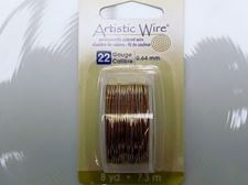 Picture of Artistic Wire, copper craft wire, 0.64 mm, non tarnish brass