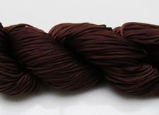 Picture of Chinese knotting cord - braided nylon cord, 0.8 mm, brown