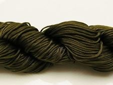 Picture of Chinese knotting cord - braided nylon cord, 0.8 mm, jade green