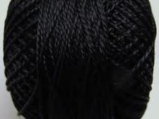 Picture of Pearl cotton, size 8, black, shiny