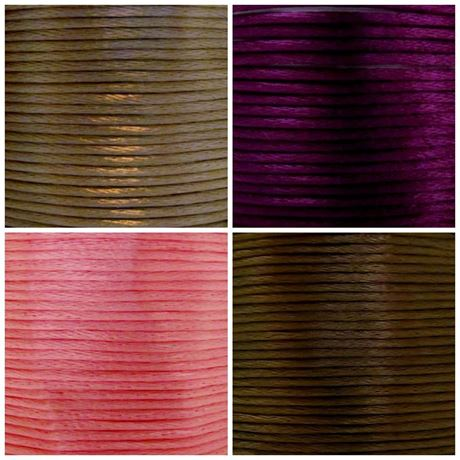 Picture of Rattail, rayon satin cord, 2 mm, 4 colors, set 1