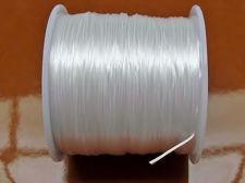 Afbeelding van Elastische sieraadkoord, 0.8 mm, wit, 64 meter