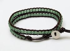 Picture of Wrap bracelet, gemstone beads, aventurine, green, natural