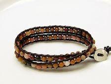 Afbeelding van Wrap armband, edelsteen kralen, Mookaiet Windalia Radiolariet