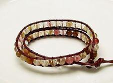 Picture of Wrap bracelet, gemstone beads, multi-colored cherry quartz