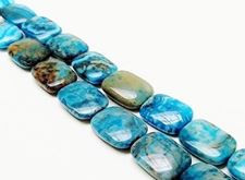 Picture of 6x20x15 mm, puffy rectangular, gemstone beads, crazy lace agate, sky blue, B-grade
