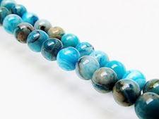 Afbeelding van 6x6 mm, rond, edelsteen kralen, kantagaat, hemelsblauw, B-klasse