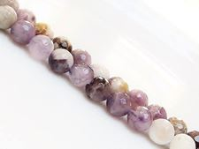 Picture of 8x8 mm, round, gemstone beads, chevron amethyst, natural, faceted