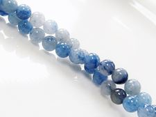 Picture of 6x6 mm, round, gemstone beads, aventurine, grey blue, natural
