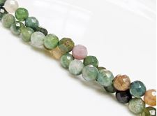 Picture of 6x6 mm, round, gemstone beads, Fancy jasper, natural, faceted