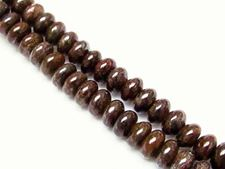 Picture of 5x8 mm, rondelle, gemstone beads, bronzite, natural