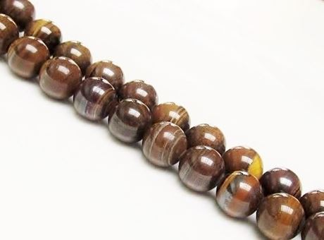Picture of 12x12 mm, round, gemstone beads, tiger iron jasper, natural