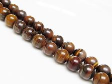 Picture of 8x8 mm, round, gemstone beads, tiger iron jasper, natural