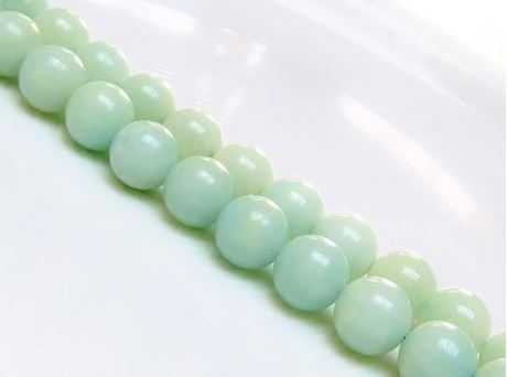 Picture of 10x10 mm, round, gemstone beads, amazonite, natural, A-grade