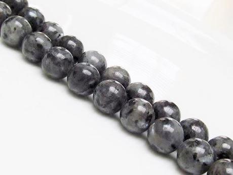Picture of 10x10 mm, round, gemstone beads, larvikite, natural