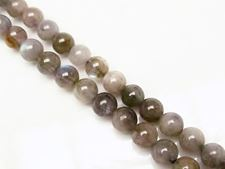 Picture of 6x6 mm, round, gemstone beads, labradorite, natural, AB-grade