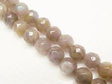 Picture of 8x8 mm, round, gemstone beads, labradorite, natural, faceted