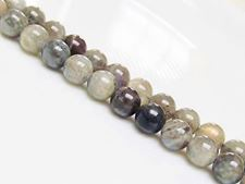 Picture of 8x8 mm, round, gemstone beads, labradorite, natural, AB-grade