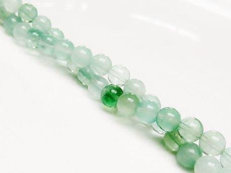 Afbeelding van 6x6 mm, rond, edelsteen kralen, fluoriet, groen, natuurlijk