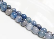 Picture of 10x10 mm, round, gemstone beads, aventurine, grey blue, natural