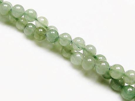 Picture of 6x6 mm, round, gemstone beads, aventurine, green, natural