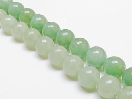 Picture of 10x10 mm, round, gemstone beads, aventurine, green, natural