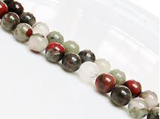 Image de 8x8 mm, perles rondes, pierres gemmes, pierre de sang africaine, naturelle