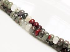 Picture of 4x6 mm, rondelle, gemstone beads, African bloodstone, natural