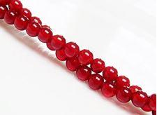 Afbeelding van 4x4 mm, rond, edelsteen kralen, rode carneool, natuurlijk, AA-klasse