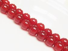 Afbeelding van 10x10 mm, rond, edelsteen kralen, rode carneool, natuurlijk, AA-klasse