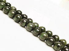 Picture of 8x8 mm, round, gemstone beads, Canadian jade, nephrite, natural