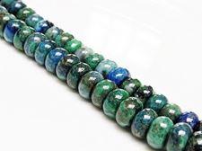 Image de 5x8 mm, perles rondelles, pierres gemmes, chrysocolle, naturelle