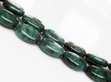 Picture of 10x14x5 mm, puffy oval, gemstone beads, chrysocolla, natural