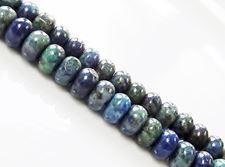 Image de 4x6 mm, perles rondelles, pierres gemmes, chrysocolle, naturelle