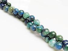Image de 6x6 mm, perles rondes, pierres gemmes, chrysocolle, naturelle