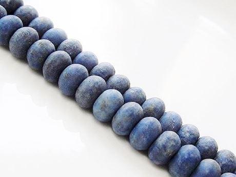 Afbeelding van 4x6 mm, rondel, edelsteen kralen, lapis lazuli, mat