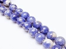 Picture of 10x10 mm, round, gemstone beads, sodalite, natural
