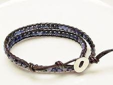 Afbeelding van Wrap armband, edelsteen kralen, sodaliet