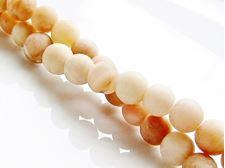 Image de 6x6 mm, perles rondes, pierres gemmes, pierre de soleil, jaune, naturelle, dépolie