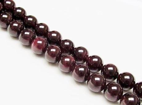 Image de 10x10 mm, perles rondes, pierres gemmes, grenat, naturel, qualité A